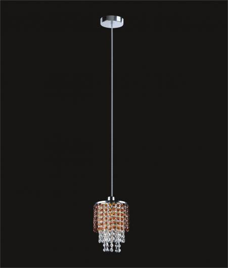 10 1 Light Layered Crystal Round Mini Pendant  Discount Crystal