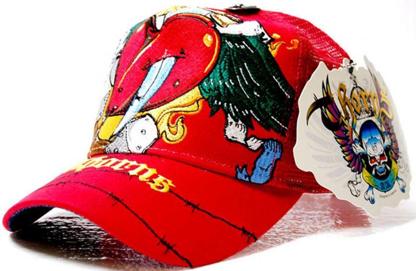 NWT MENS THORNS ED SACRED HEART RED TRUCKER HAT BASEBALL CAP DAGGER