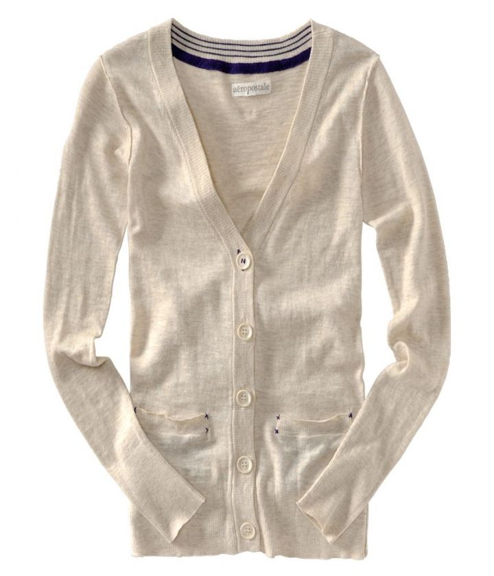 Aeropostale long sleeve button down 2 pocket sweater   Style # 9168
