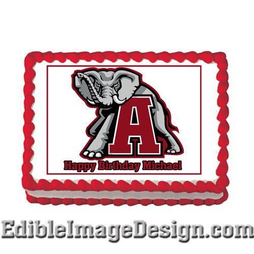 University of Alabama Crimson Tide Edible Party Cake Image Cupcake