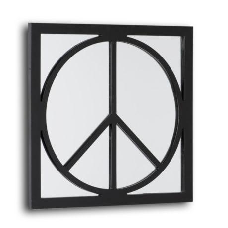 PEACE SIGN WALL MIRROR~HIPPIE DECOR~60S~DORM~TEEN~BLACK