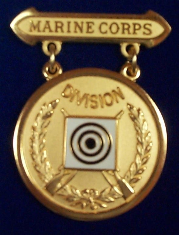 Marine Corps Rifle EIC Excellence In Competition Badge Medal,Gold